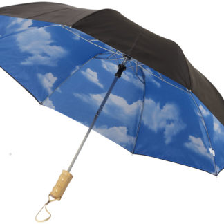 "21"" himmel 2-sektions automatisk paraply"