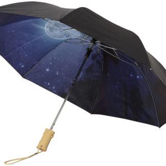 "21"" natthimmel 2-sektions automatisk paraply"