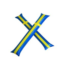 Applådstavar 2-pack - Svenska flaggan