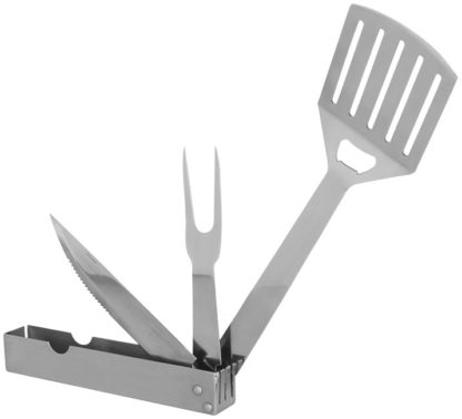 Cove 3-i-1 hopfällbart grillverktyg