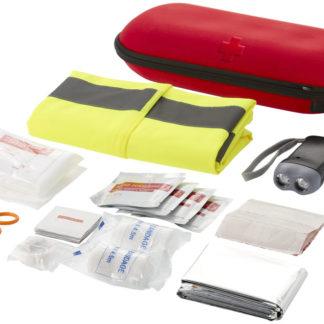 Första hjälpen-set i 46 delar och professionell säkerhetsväst