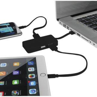 Grid USB portar med dubbla kablar