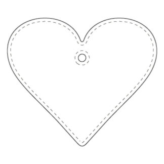 Hanger Hjärta 58x50 mm