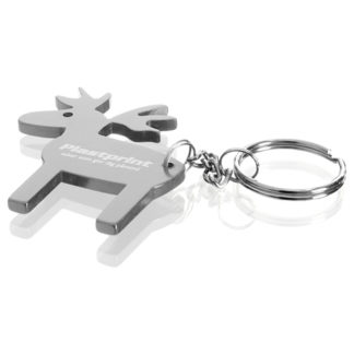 Nyckelring aluminium Älg 55x60 mm