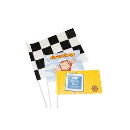 Pappersflagga med reklamtryck - 21x15 cm