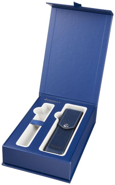 Presentkartong för 1 penna med pennfodral i läder
