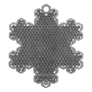 Reflexbricka Snöflinga 58x66 mm