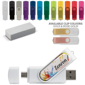 USB OTG 16 GB Flash Drive Twister With Domning