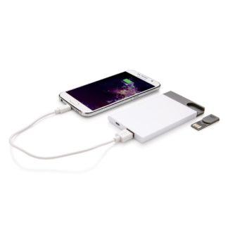 2.500 mAh Powerbank med 8GB USB-  minne