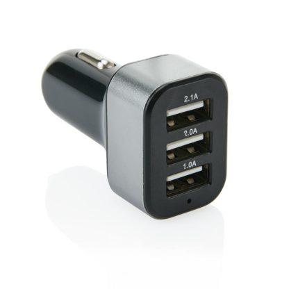3.1 A billaddare med 3 USB-portar