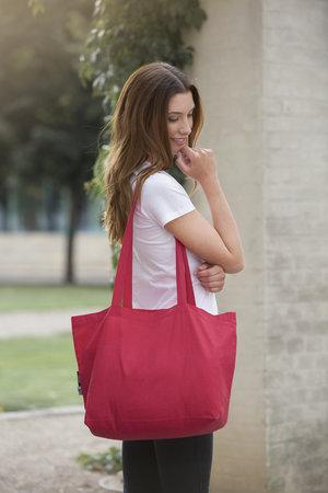 A_Kassar med tryck SHOPPING BAG W. GUSSET