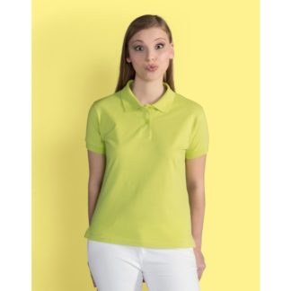 A_Piké med tryck LADIES' COTTON POLO