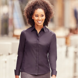 A_Skjortor med tryck LADIES' LS ULTIMATE STRETCH SHIRT