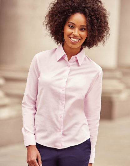 A_Skjortor med tryck RUSSEL LADIES' OXFROD BLOUSE LS