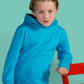 A_Sweatshirts med tryck KIDS' CONSTRAST HOODIE