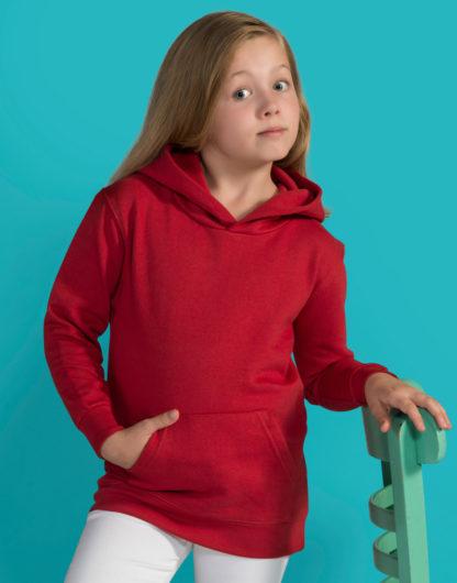 A_Sweatshirts med tryck KIDS HOODED SWEATSHIRT