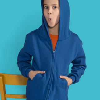 A_Sweatshirts med tryck ZIP HOOD KIDS