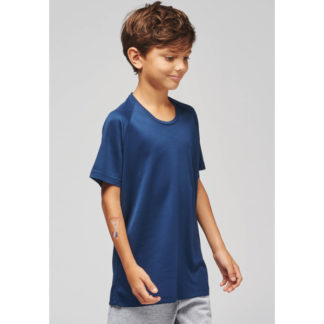 A_T-shirts med tryck KIDS' SHORT SLEEVE SPORTS T-SHIRT