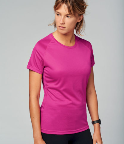 A_T-shirts med tryck LADIES' SHORT SLEEVE SPORTS T-SHIRT