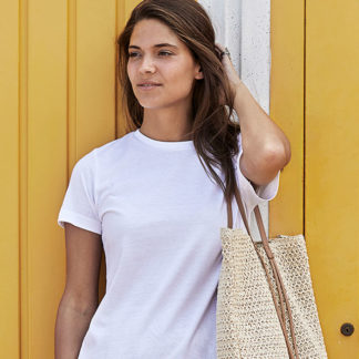 A_T-shirts med tryck LADIES BASIC TEE