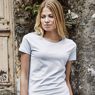 A_T-shirts med tryck LADIES LUXURY TEE