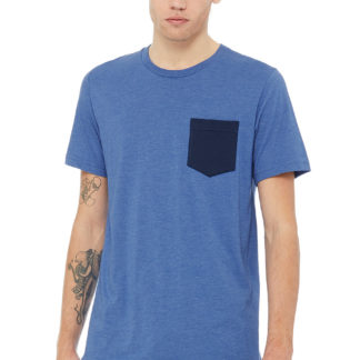 A_T-shirts med tryck MEN'S JERSEY POCKET T-SHIRT