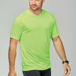 A_T-shirts med tryck MEN'S V-NECK SHORT SLEEVE SPORTS T-SHIRT
