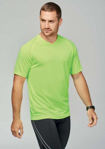 A_T-shirts med tryck MEN'S V-NECK SHORT SLEEVE SPORTS T-SHIRT