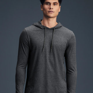 A_Tröjor med tryck ADULT FASHION BASIC LS HOODED TEE
