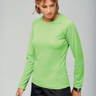 A_Tröjor med tryck LADIES' LONG SLEEVE SPORTS T-SHIRT