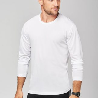 A_Tröjor med tryck MEN'S LONG SLEEVE SPORTS T-SHIRT