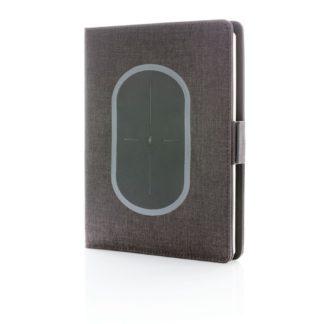 Air omslag för A5 anteckningsbok med trådlös laddning
