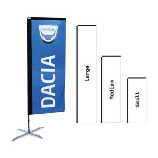 Beachflagga H-shape