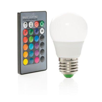 Färgad glödlampa med kontroll