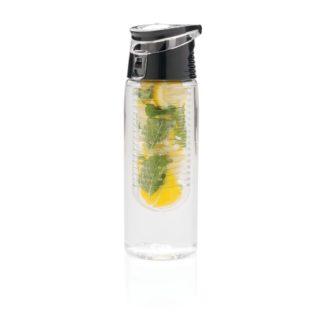 Låsbar flaska med fruktbehållare