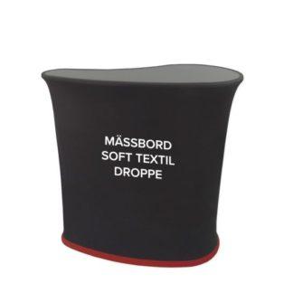 Mässbord soft textil droppe