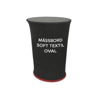 Mässbord soft textil oval