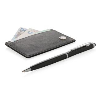Swiss Peak RFID-korthållare och pennset