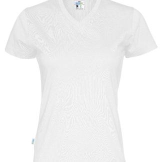 T-shirt V-neck Lady ekologiska t-shirt