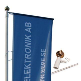 Toppmonterad flaggarm