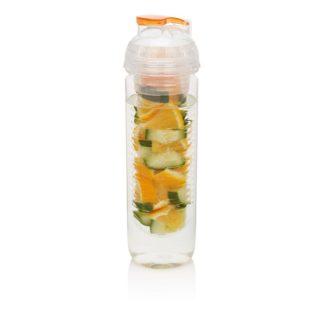 Vattenflaska med fruktbehållare