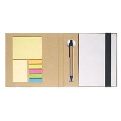 Block med post-its och penna