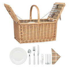 Flätad picknick korg 4 pers.