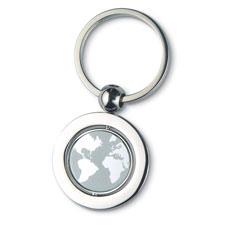 Globe nyckelring i metall