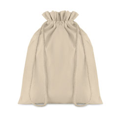 Medium Cotton draw cord bag