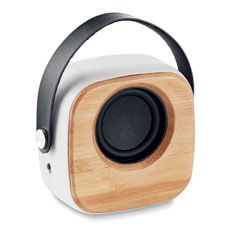 Speaker 3W with bamboo front