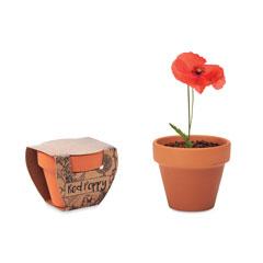 Terracotta skål 'poppy'