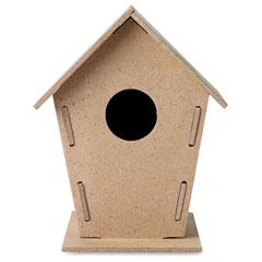 Trä fågel hus