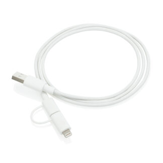 2-i-1 MFi-licensierad kabel