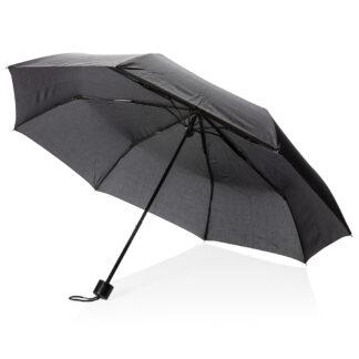 """21"""" paraply med manuell öppning och hopvikbar shoppingkasse"""